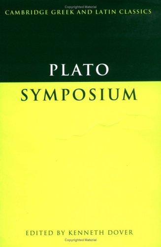 Plato Symposium  1980 edition cover