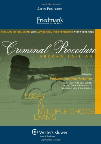Criminal Procedure Essay and Multiple Choice Exams Student Manual, Study Guide, etc.  edition cover