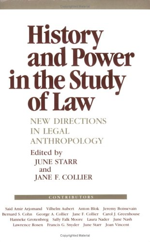 History and Power in the Study of Law New Directions in Legal Anthropology N/A 9780801494239 Front Cover