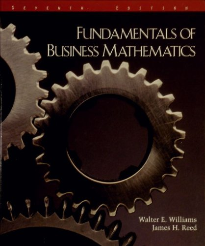 Fundamentals of Business Mathematics 7th 1996 edition cover