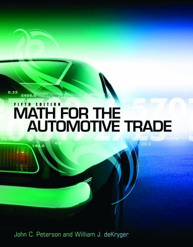 Math for the Automotive Trade  5th 2012 edition cover