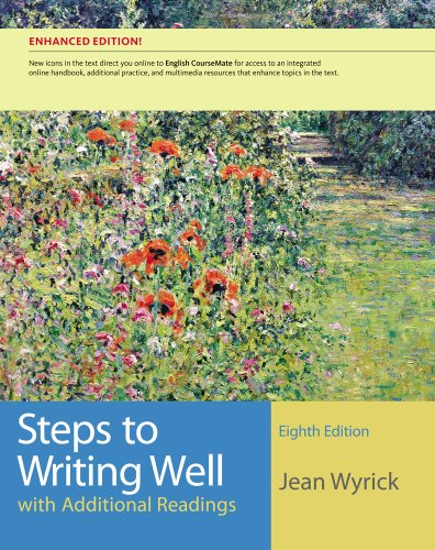 Steps to Writing Well with Additional Readings  8th 2013 edition cover