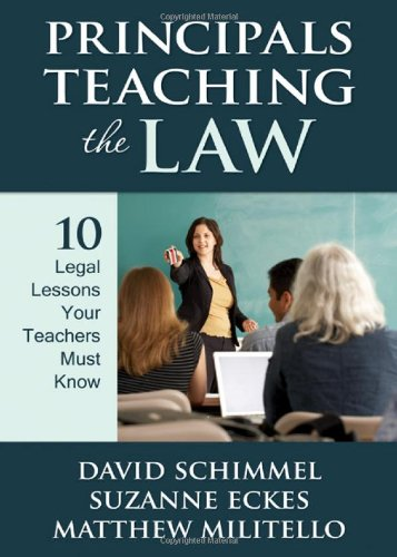 Principals Teaching the Law 10 Legal Lessons Your Teachers Must Know  2010 edition cover