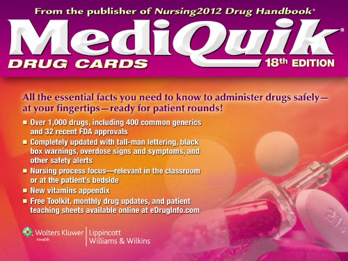 MediQuik Drug Cards  18th (Revised) edition cover