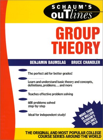 Schaum's Outline of Group Theory   1968 edition cover
