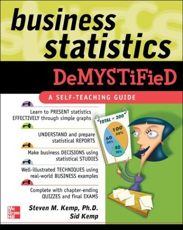 Business Statistics Demystified   2004 9780071440240 Front Cover