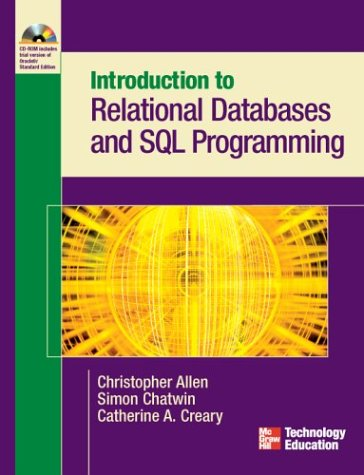 Introduction to Relational Databases and SQL Programming   2004 9780072229240 Front Cover