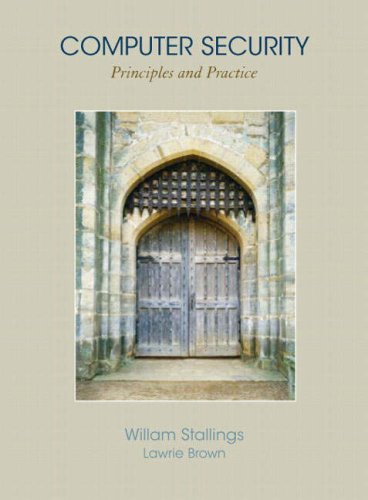 Computer Security Principles and Practice  2008 edition cover