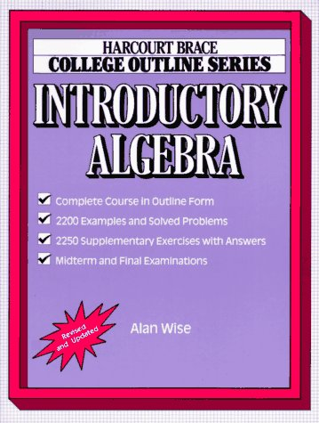 Introductory Algebra   1986 9780156015240 Front Cover