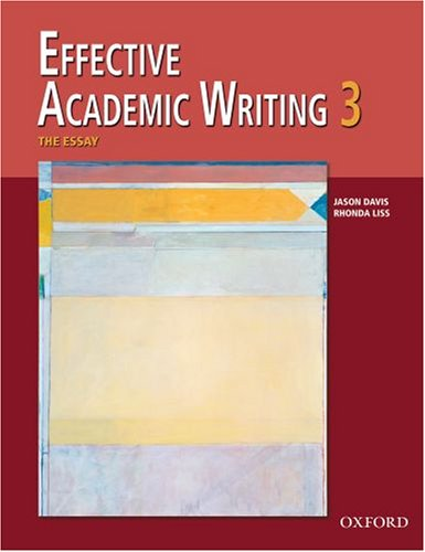 Effective Academic Writing   2006 9780194309240 Front Cover