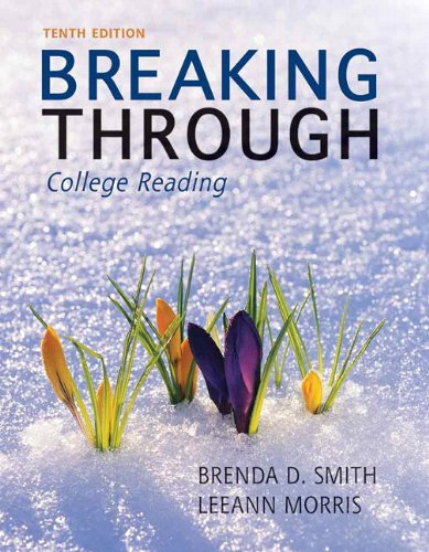 Breaking Through College Reading 10th 2013 edition cover