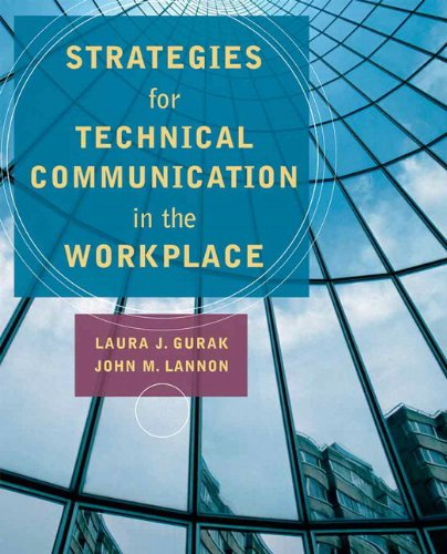 Strategies for Technical Communication in the Workplace   2010 edition cover