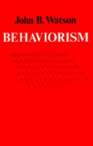 Behaviorism  Reprint edition cover