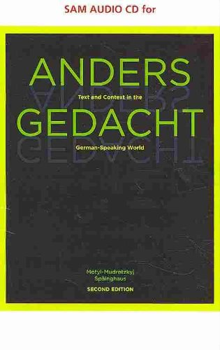 Anders Gedacht Text and Context in the German-Speaking World 2nd 2011 9780538734240 Front Cover