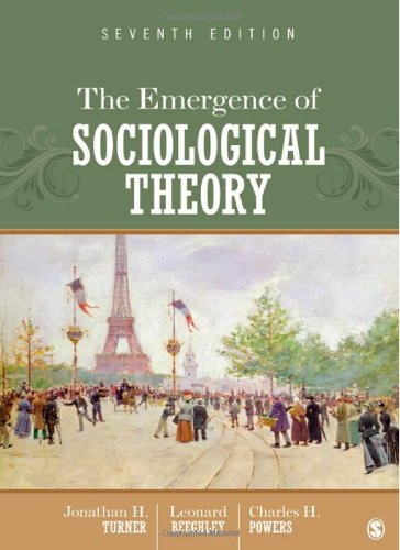 Emergence of Sociological Theory  7th 2012 edition cover