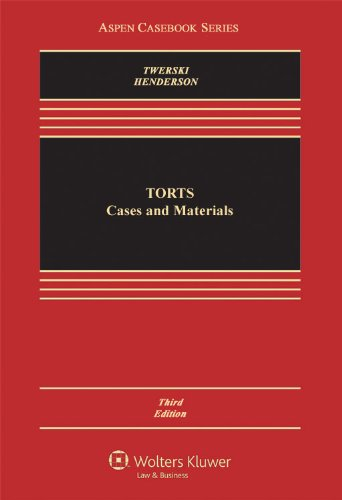 Torts Cases and Materials 3rd 2011 (Revised) edition cover