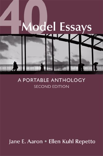 40 Model Essays A Portable Anthology 2nd 2013 edition cover
