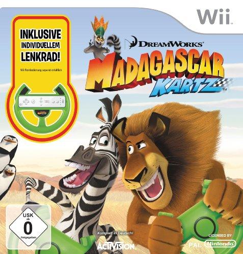 Madagascar Kartz (inklusive Lenkrad) Nintendo Wii artwork