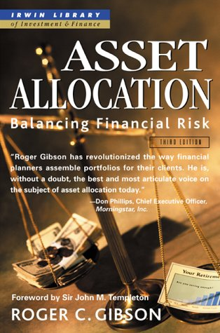 Asset Allocation Balancing Financial Risk 3rd 2000 (Revised) edition cover