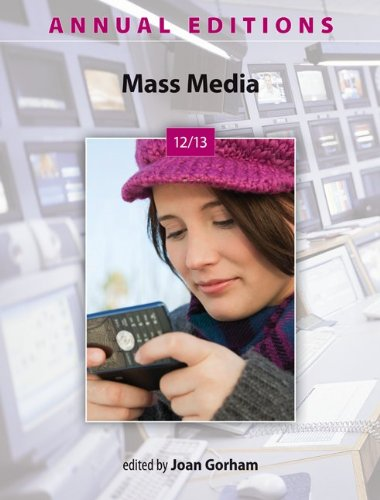 Annual Editions: Mass Media 12/13  18th 2013 edition cover