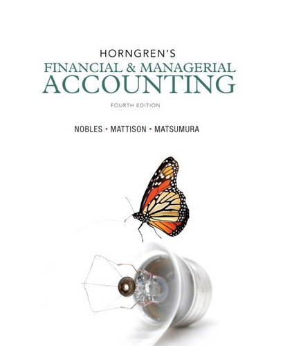 Horngren's Financial and Managerial Accounting  4th 2014 edition cover