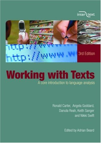 Working with Texts A Core Introduction to Language Analysis 3rd 2007 (Revised) edition cover