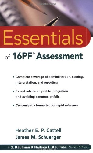 Essentials of 16PF Assessment   2003 edition cover