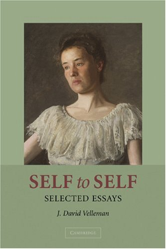 Self to Self Selected Essays  2005 9780521670241 Front Cover
