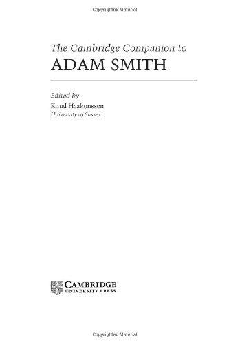 Cambridge Companion to Adam Smith   2005 9780521779241 Front Cover
