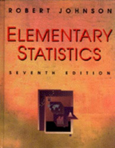 Elementary Statistics  7th 1996 9780534243241 Front Cover