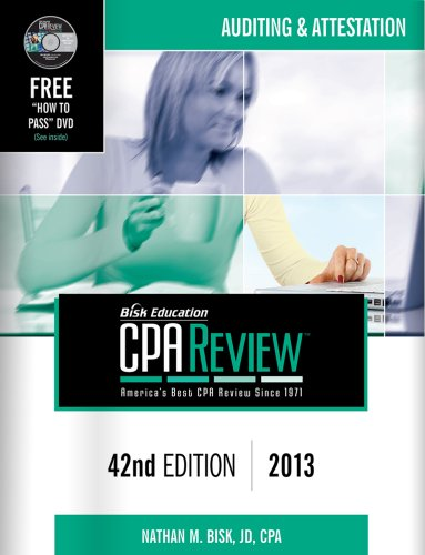 Bisk CPA Review, 42nd Edition, AUD Volume N/A edition cover