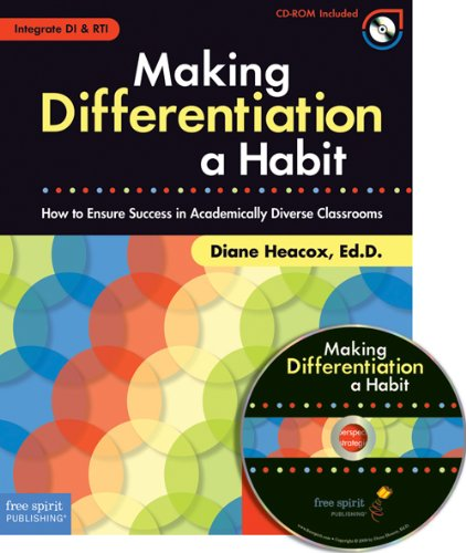 Making Differentiation a Habit How to Ensure Success in Academically Diverse Classrooms  2009 edition cover