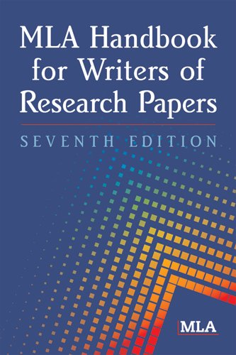 MLA Handbook for Writers of Research Papers  7th 2009 9781603290241 Front Cover