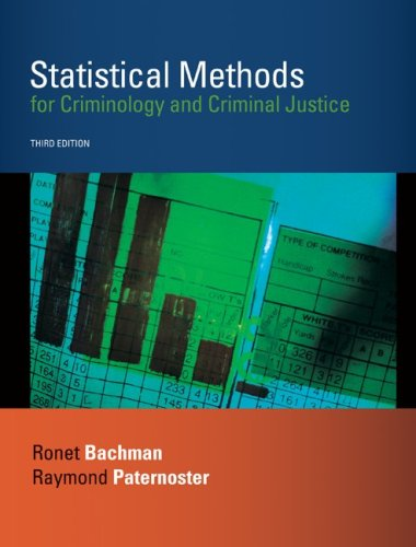 Statistical Methods for Criminology and Criminal Justice  3rd 2009 edition cover
