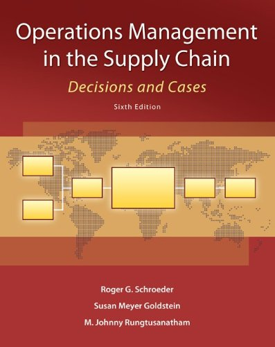 Operations Management in the Supply Chain Decisions and Cases 6th 2013 edition cover