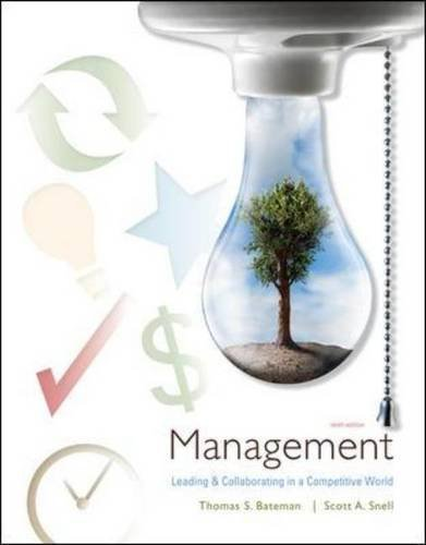 Management Leading and Collaborating in the Competitive World 9th 2011 edition cover
