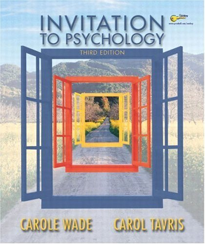 Invitation to Psychology  3rd 2005 edition cover