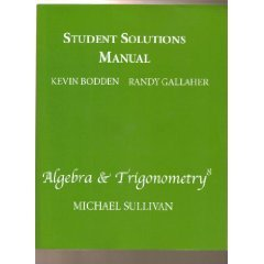 Algebra and Trigonometry: Student Solutions Manual  8th 2008 edition cover