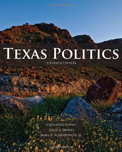 Texas Politics  11th 2011 edition cover