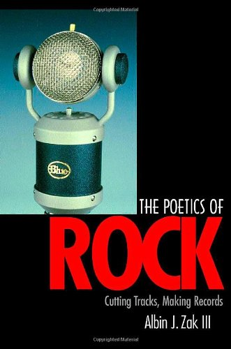 Poetics of Rock Cutting Tracks, Making Records  2001 edition cover