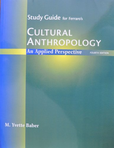 Cultural Anthropology 4th 2001 (Student Manual, Study Guide, etc.) 9780534556242 Front Cover