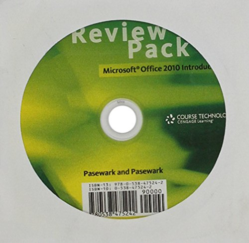 Review Pack for Pasewark/Pasewark's Microsoft© Office 2010: Introductory   2011 9780538475242 Front Cover