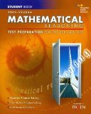 Steck-vaughn Ged Test Preparation Mathematical Reasoning:   2013 9780544274242 Front Cover