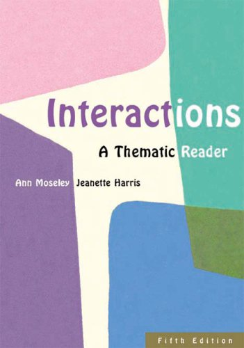 Interactions A Thematic Reader 5th 2003 9780618214242 Front Cover
