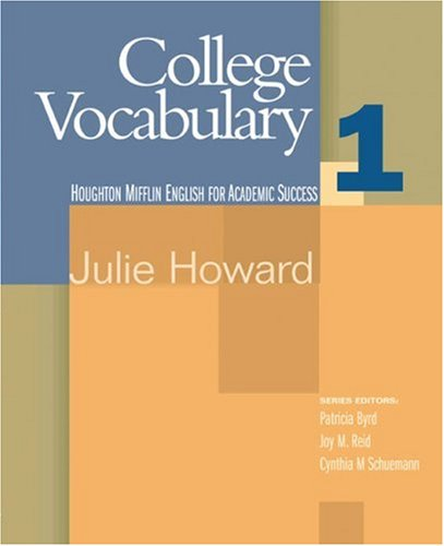 College Vocabulary   2006 9780618230242 Front Cover