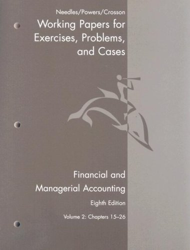 Financial and Managerial Accounting  8th 2008 9780618777242 Front Cover