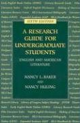 Research Guide for Undergraduate Students English and American Literature 6th 2006 edition cover