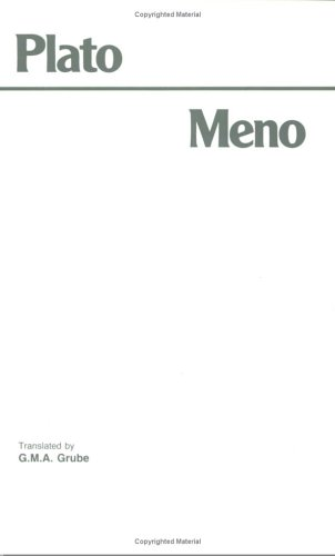 Plato Meno  2nd edition cover
