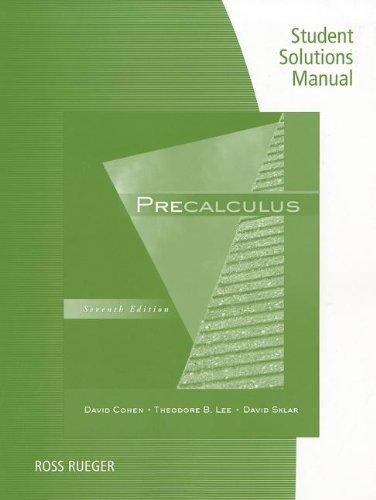 Precalculus  7th 2012 edition cover