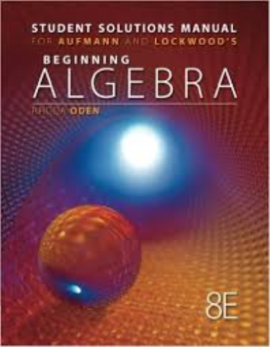 Beginning Algebra with Applications  8th 2013 9781133112242 Front Cover